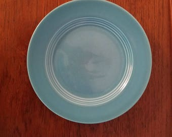 """Homer Laughlin Harlequin Luncheon Plate, Turquoise, Fiestaware. 9.25"""""""