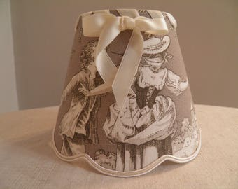 small Lampshade for appliques and toile de jouy Brown luster