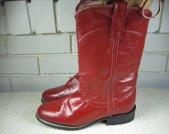 Vtg red ACME Cowgirl boots size 5M