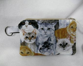 Cat / Kittens / Kitties Coin Purse / Coin Pouch