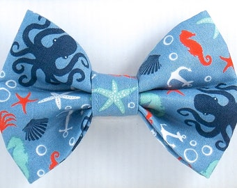 Dog Bow Tie, Summer Bow Tie, Cat Bow Tie, Beach Bow Tie, Squid  Bow Tie, Ocean Bow Tie, Bow Tie for Dogs