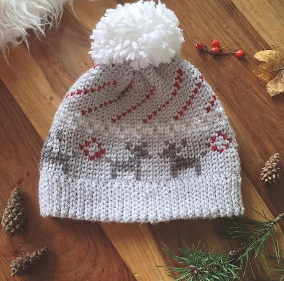 Mistletoe Kisses Beanie PDF DIGITAL DOWNLOAD Crochet pattern