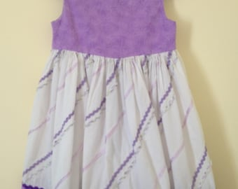 Gently Used Purple and White Sleeveless 4T Dress