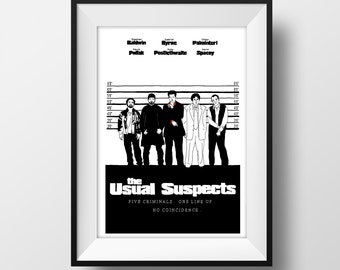 Usual Suspects - Spacey - Movie Poster - Graphic Illustration A4 - Art Print