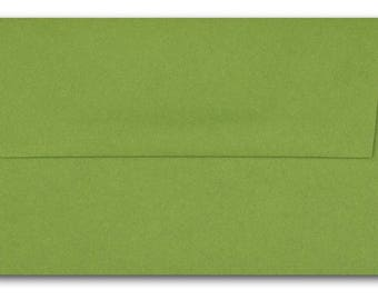 Envelopes, Size A6, Green, Gum Drop. Pop-Tone, French, Square Flap, 4 3/4 x 6 1/2, 4 x 6 card, FREE Shipping, Inventory Closeout Lots of 100