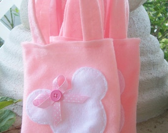 MINNIE MOUSE PARTY/ Felt party bags/ Set of 6 Party favor/ party supplies