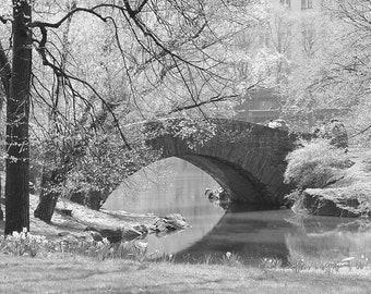 Central Park, New York City, Gapstow Bridge, Wall Art, Home Decor, New York Photography, Fine Art Print, Black and White