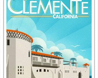 5x7 Greeting Card - San Clemente California