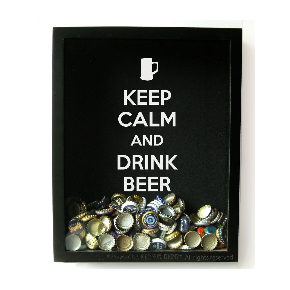 Decal only Keep Calm and Drink Beer Mug Wall Decal Sticker