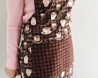 Coffee Lovers Apron for Women - womens apron / aprons for women / mocha java / cooking apron / foodie gift / gifts for her