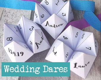 Wedding Games - Wedding - Wedding Table Games - Wedding Table Decorations - Cootie Catcher - Weddings - Wedding Favours - Wedding Game