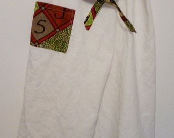 Thai fisherman pants, white linen and wax