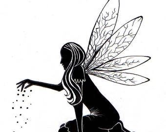 Lavinia Stamps Clear Rubber Stamp - Fairy Dust Silhouette