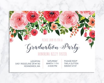 DIGITAL Graduation Invitation