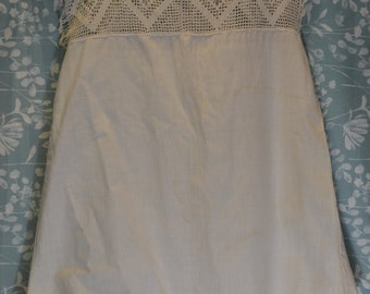 Edwardian Tatted Lace Titanic Ladies Envelope Chemise Step In Teddy