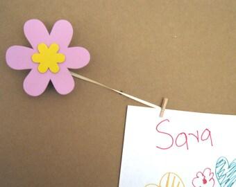 Pair of PINK FLOWER Art Holders for Children's Art
