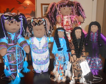 OOAK Native American Themed Cloth Dolls