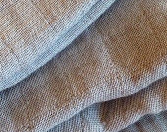 cloth diaper XXL plain gray light - cotton muslin