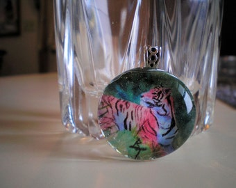 Pink Tiger Marble Pendant
