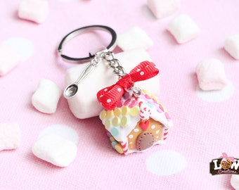 Keychain - gingerbread house