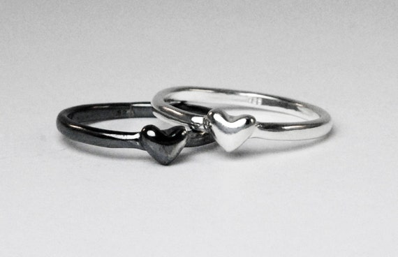 Sterling Silver Heart Rings_Ready to ship.