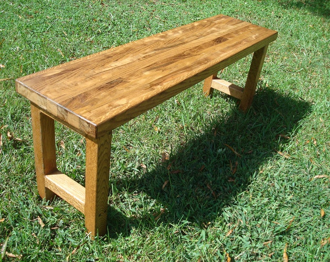 Wood Bench Reclaimed Wood Bench Rustic Wood Bench Handmade Bench