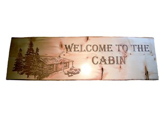Wooden Cabin sign
