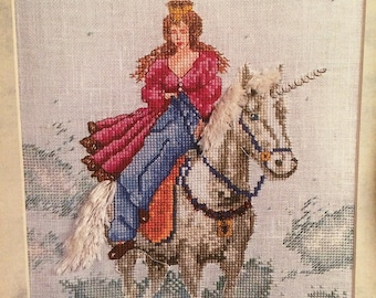 Princess and Unicorn Cross Stitch Chart