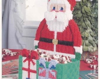 Santa Candy Holder ~  plastic canvas pattern