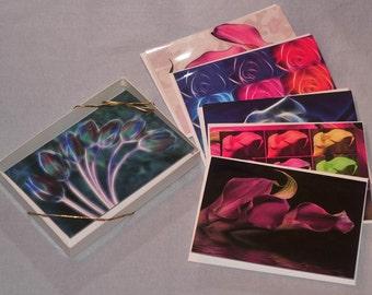 Fantasy Flowers Greeting Card Set