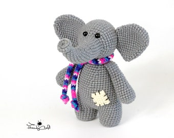 Stuffed elephant toy African animal Nursery decor Plush elephant lover gift Stuffed animal toy Elephant plush doll Zoo animal lover gift