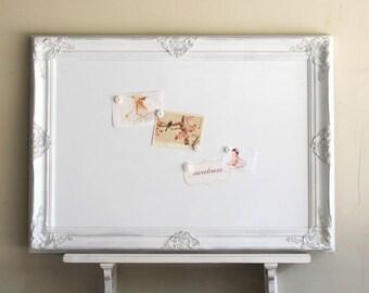 Marvelous Decorative WHITEBOARD Dry Erase Board Kitchen Organizer White Magnetic  Bulletin Board Office Shabby Playroom Decor