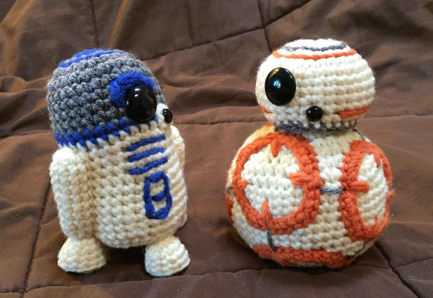 BB8 AND R2D2 Star Wars Inspired Crochet Patterns 2 for 1