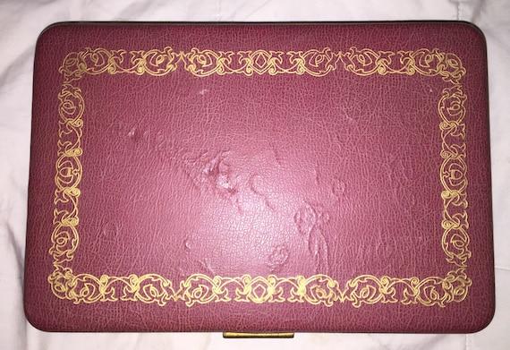 Farrington Jewelry Box Inspiration SALE Vintage 60s60s Farrington Jewelry Box Texol Leather