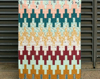 Aztec Chevron Quilt - Modern Quilt Pattern - INSTANT DOWNLOAD PDF file