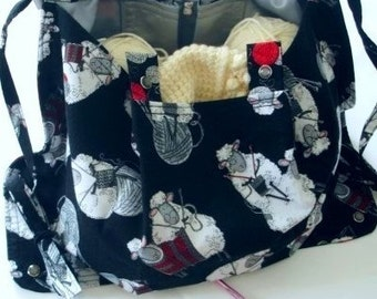 KNITTING  BAG APRON - Made To Order - Do Ewe Knit - Please allow 3 weeks for delivery