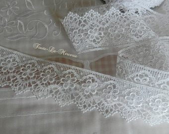 Happy and elegant white guipure lace