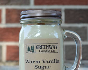 Warm Vanilla Sugar Soy Candle 16 oz