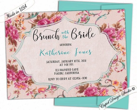 Day After Wedding Brunch Invitation: Bridal Brunch Shower Invitation/bridal Shower Brunch