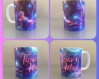 personalised mug cup fantasy mermaid merman water sea creature mythological fish