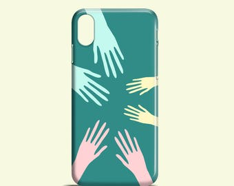 Pastel Hands iPhone X case / iPhone 8 case / palms iPhone 8 Plus case / cute iPhone 7 case / Pastel iPhone 7 Plus / graphic iPhone 6/6S case