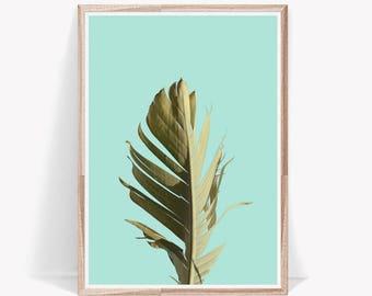 Palm,Palm Leaf,Palm Print,Palm Print Art,Palm Tree,Banana Leaf,Banana Leaf Print,Leaf,Leaf Print,Tropical Print,Tropical Decor,Tropical Art