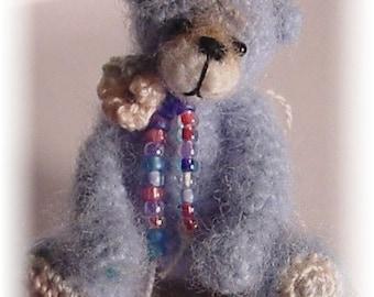 Crochet Pattern for Tiny Bear a Thread Artist Teddy Bear  by Joanne Noel of  Bayou Bears