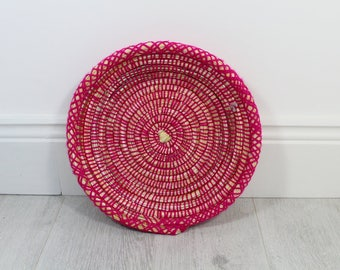 Moroccan Woven Plate - Hot Pink