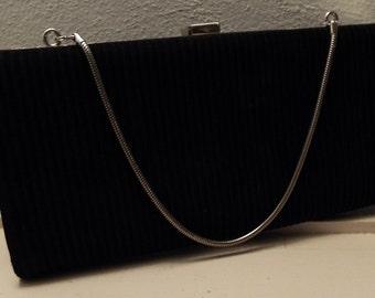 Vintage Black and Silver Handbag