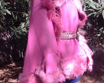showdiva designs READY to SHIP Pink Toscana Hi Low Swing Vest Jacket Coat Cape Divinely Soft Asymmetrical