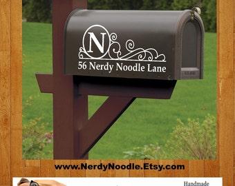 Custom Mailbox Decal, Mailbox Decal, Address Decal, Mailbox Numbers, Mailbox Monogram, Mailbox Stickers