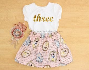 Princess Birthday Outfit, Princess Tutu, Personalized Princess Outfit, Personalized Princess Shirt, Princess Birthday, Cinderella, Belle