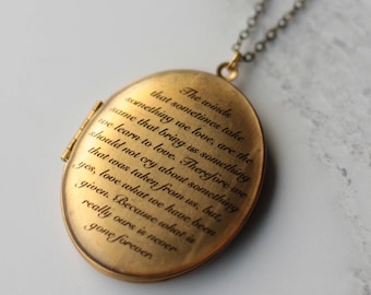 Personalised Locket - Personalised Remembrance Locket - Locket Necklace