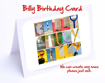 Billy Personalised Birthday Cards